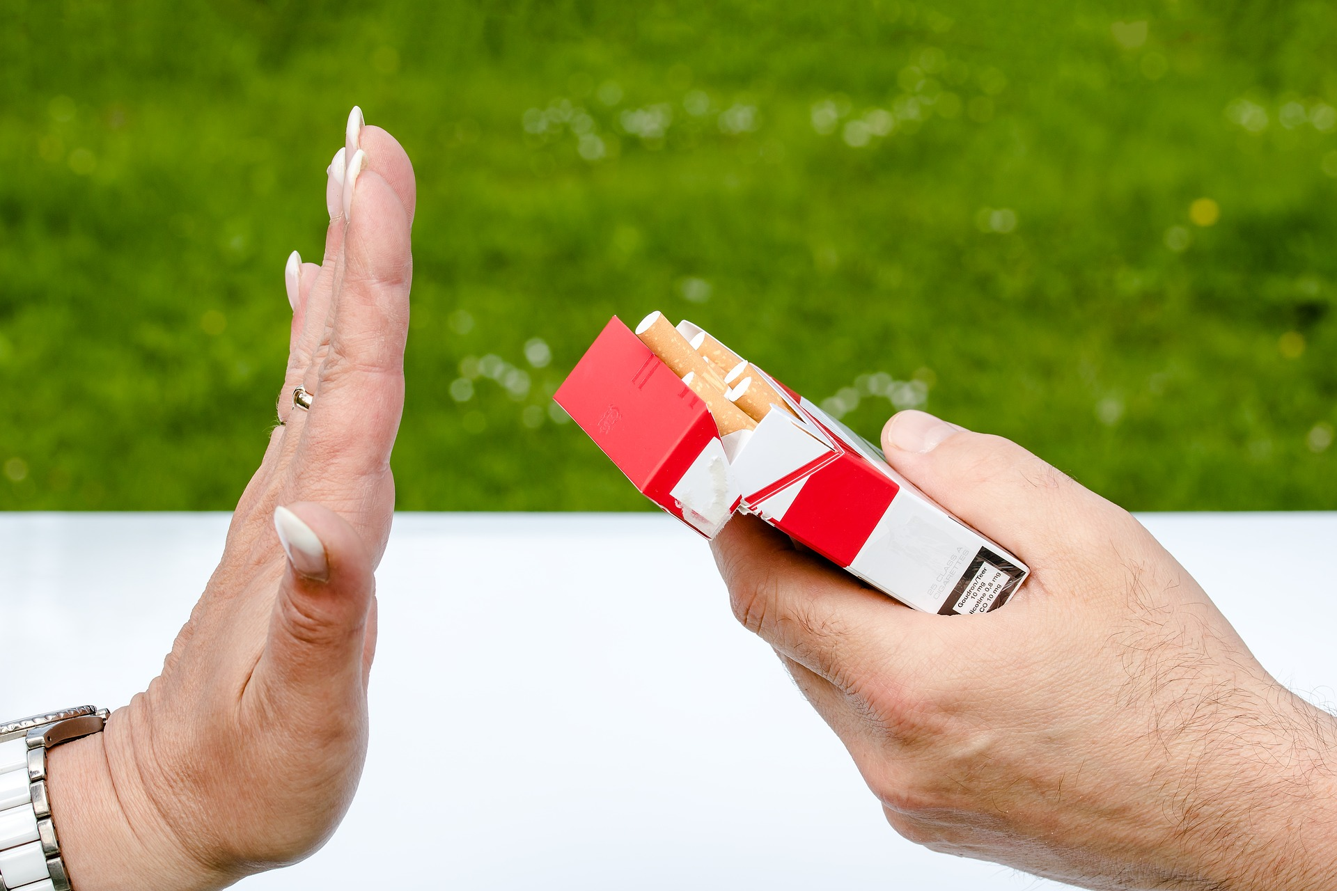 Link to the page about support for people who want to quit smoking